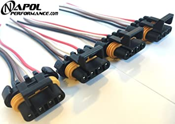 [DHAV_9290]  Amazon.com: Pack of 4 Ignition Coil Wiring Harness Pigtail Connector Gm  Camaro Corvette - Pontiac Firebird Coil Pack Connector Clip Repair Kit:  Automotive | Gm Coil Pack Wiring |  | Amazon.com