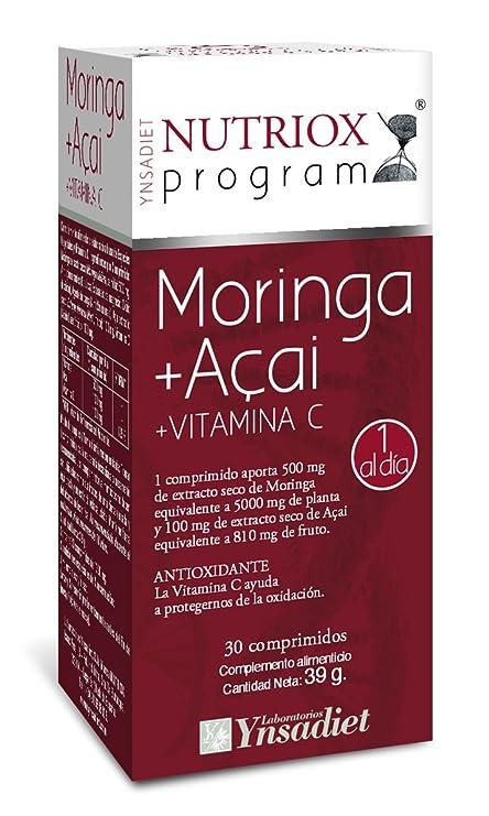 Nutriox Moringa, Açai y Vitamina C Antioxidante - 30 Unidades