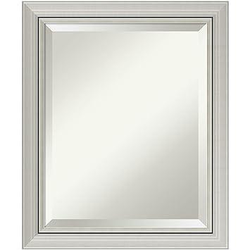 Amazoncom Bathroom Mirror Medium Romano Narrow Silver Outer Size - Narrow bathroom mirror