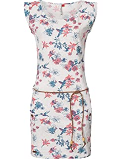b7953d3577fb79 Ragwear Damen Kleid Dress Sommerkleid Strandkleid Jerseykleid Freizeitkleid  Tag Flowers 5 Farben XS-XL