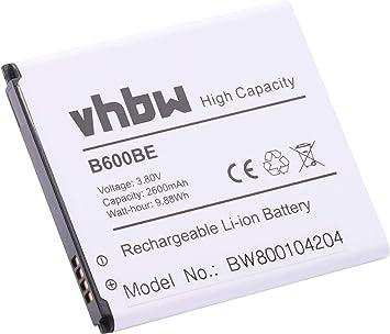 vhbw Li-Ion batería 2600mAh (3.8V) para teléfono móvil Smartphone ...