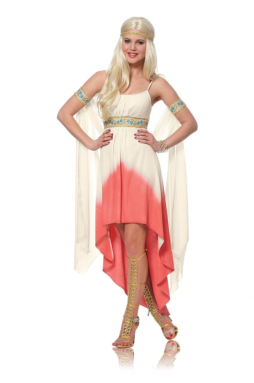 Franco American Novelty Womens Coral Goddess Greek Costume sz ...