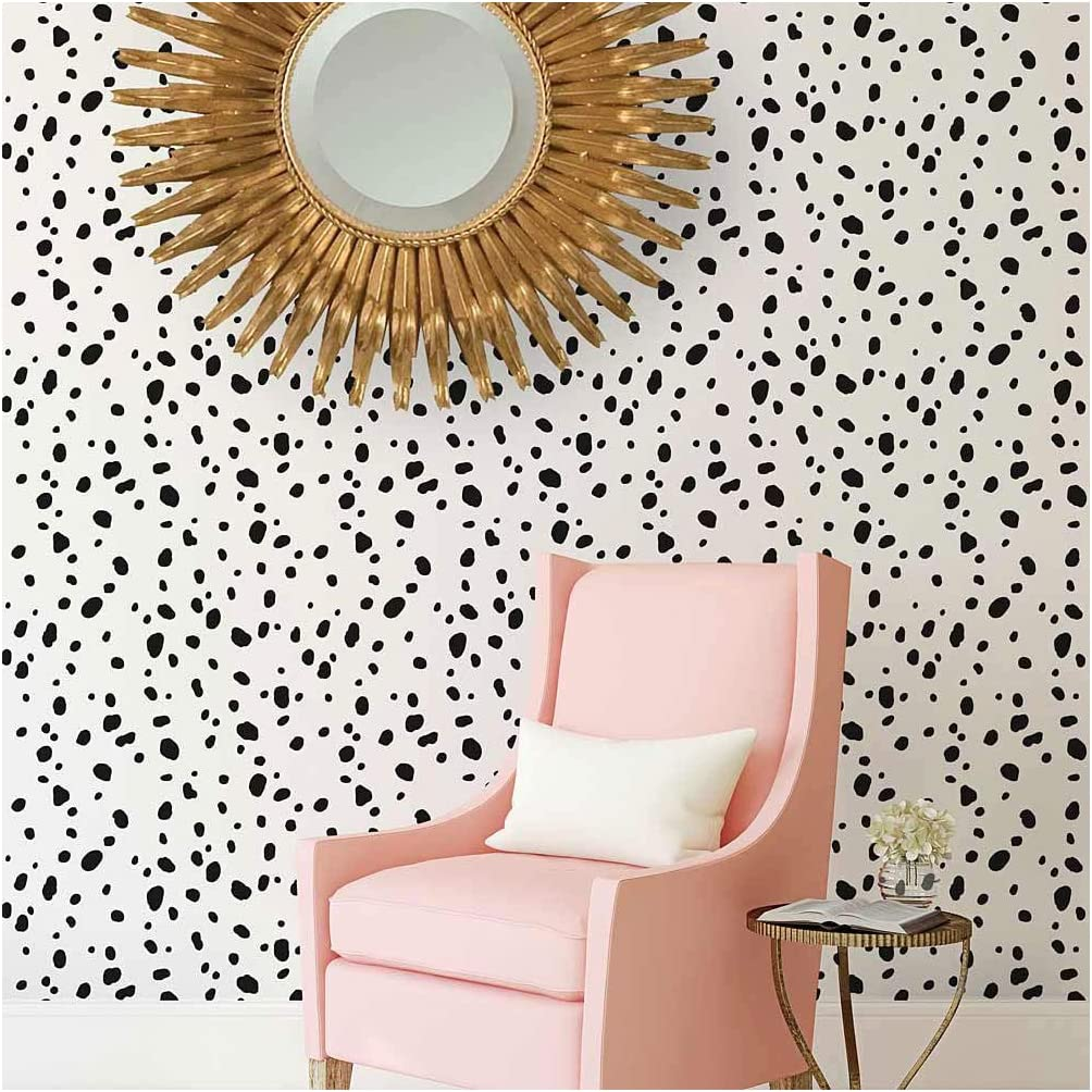 Dalmatian Spots Allover Stencil - Large Stencils for Painting Walls – Try  Stencils Instead of Wallpaper – Modern Stencils for Wall Painting – Stencil
