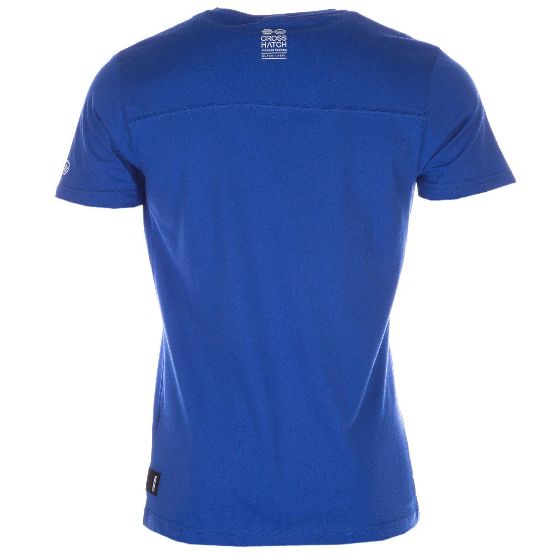 Blue Crosshatch Mens Faithless T-Shirt