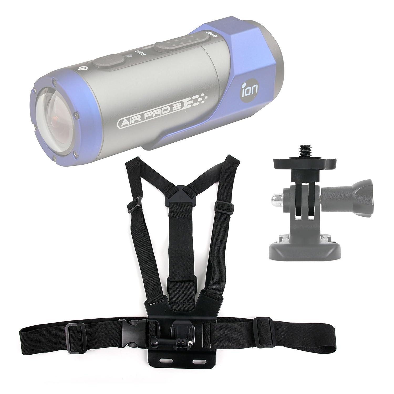 DURAGADGETプレミアム品質Ion Airカメラアクションカメラ胸ハーネスマウント – 完全に調節可能なチェストハーネスマウントクイックrelease-buckle for新しいIon Air Pro 3 B00ZD1RZK4