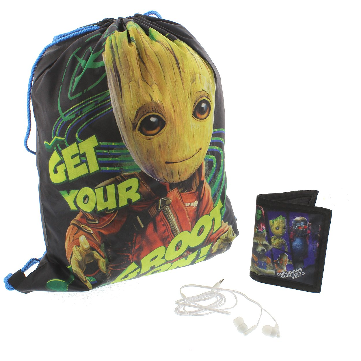 Guardians of the Galaxy Vol 2 Boys Backpack Headphones and Wallet Boxed Gift Set (Guardians Black/Blue)