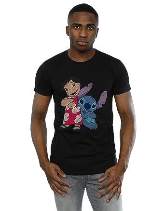 2c6c2ebae Disney Men's Lilo and Stitch Classic T-Shirt: Amazon.co.uk: Clothing