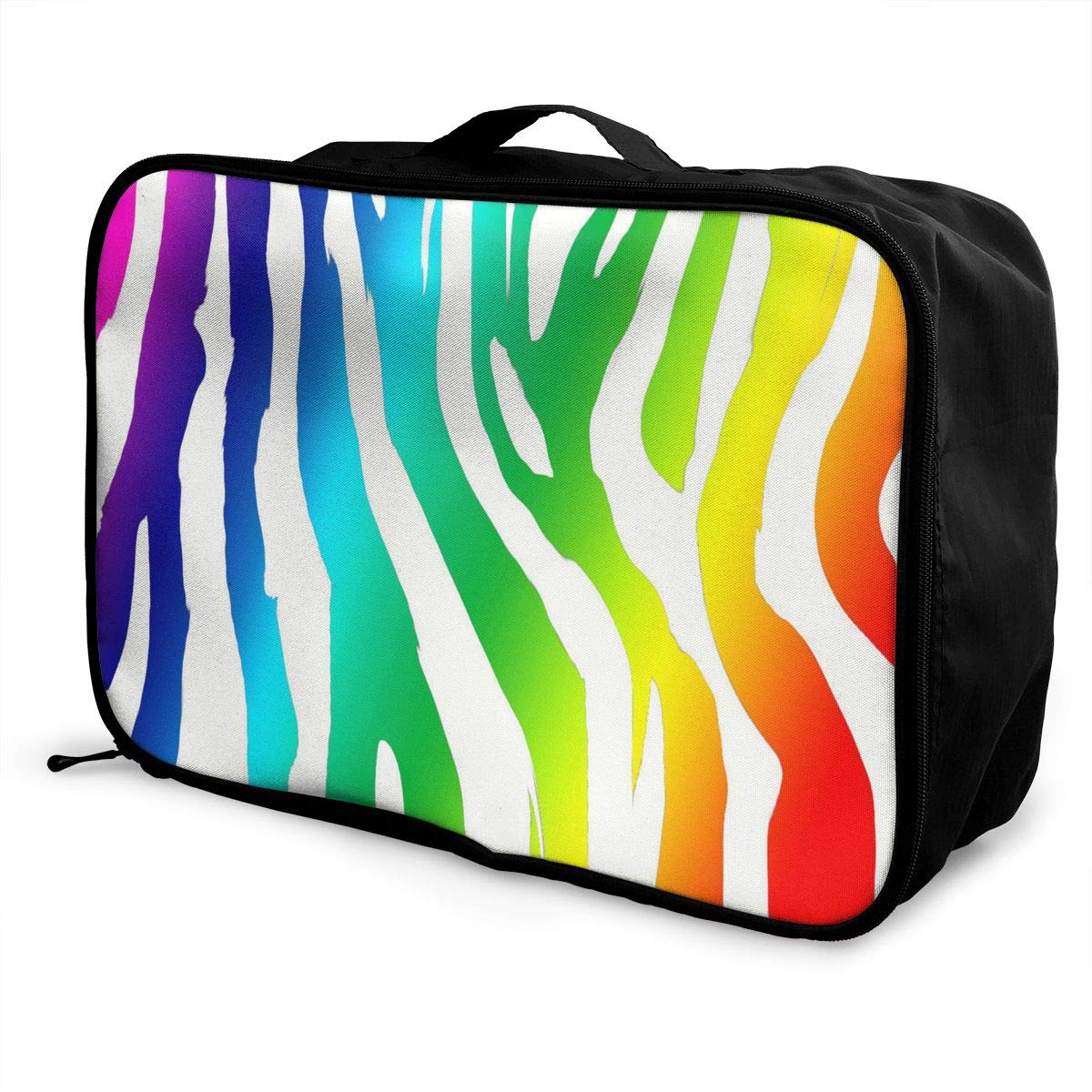 Travel Bags Peacock Feathers Portable Tote Trolley Handle Luggage Bag