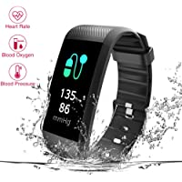 Fitness Tracker, Heart Rate Monitor, IP67 Waterproof Smart Bracelet with Camera Remote Shoot, Fitness Watch Pedometer for Bluetooth Android and iOS