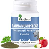 Natimal. Schlaue Zahn- & Mundpflege für Hunde Plus Vitamin C. 100g Pulver für jeden Hund. Ergänzungsfuttermittel.