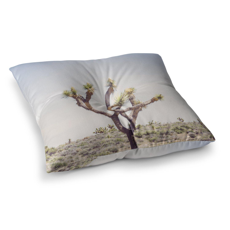 23 x 23 Square Floor Pillow Kess InHouse Ann Barnes Joshua Tree Blue Green Photography