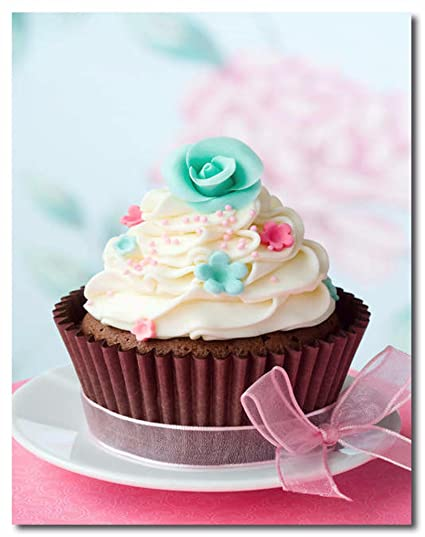 Amazon HandTao Cupcakes Canvas Wall Art Beautiful Picture