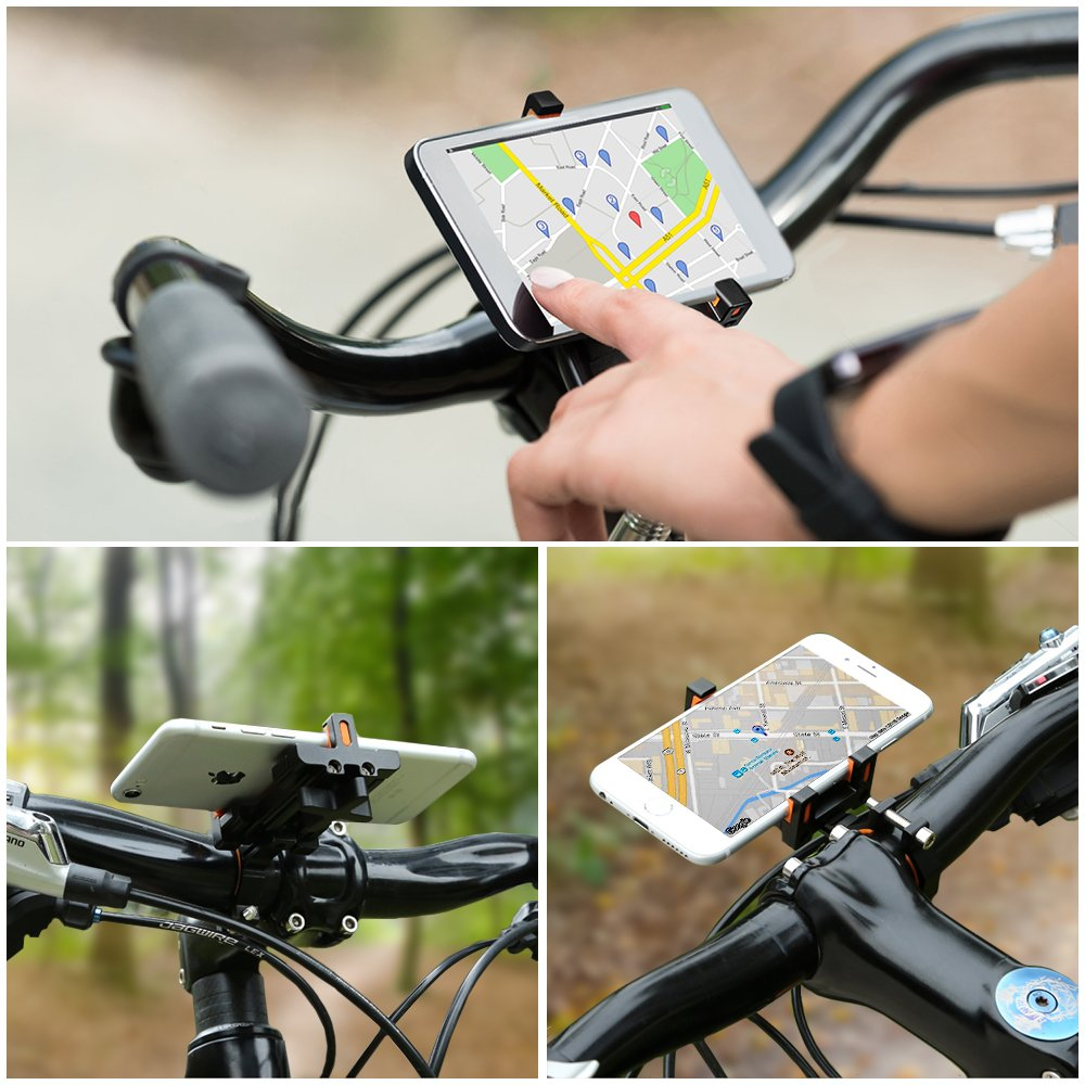 Sporcis Bike Phone Mount, Bicycle Motorcycle Handlebars Mobile Phone Holder with 360 ° Rotation Adjustable, Fits iPhone X, 8 | 8 Plus, 7 | 7 Plus, iPhone 6s | 6s Plus, Galaxy S7/ S6/ S5 by Sporcis (Image #7)