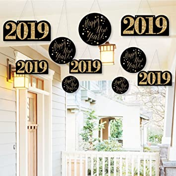 Amazon Com Hanging New Year S Eve Gold Outdoor Hanging Decor