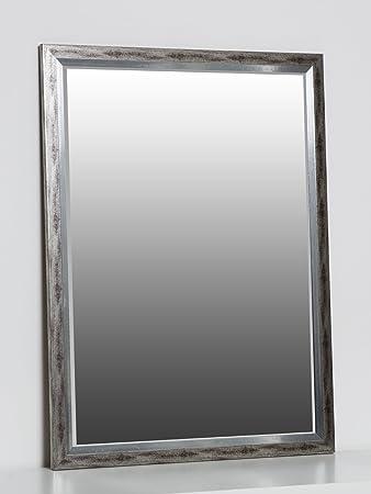 Wandspiegel Silber 80 X 60 Cm Mit Elegantem Und Schlichtem Rahmen