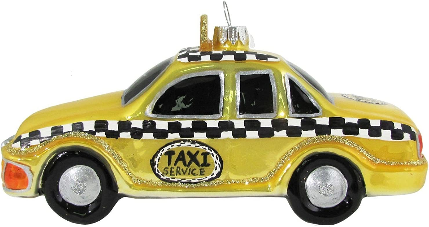 BLOOMIE/'S Sequin Taxi Cab NEW YORK CITY  Christmas Ornament VINTAGE