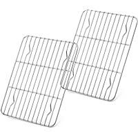 """Baking Rack Set of 2, E-far Stainless Steel Metal Roasting Cooking Racks, Size - 8.6""""x6.2"""", Non Toxic & Rust Free, Fit…"""