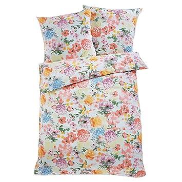 Pureday Bettwäsche Mit Blumen 100 Baumwoll Renforcé Weiß Rosa Bunt