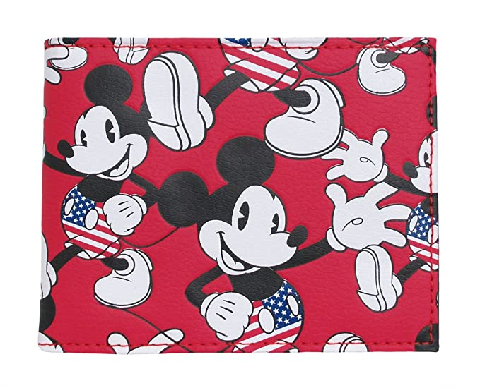 Monedero Mickey Mouse Red BiFold: Amazon.es: Ropa y accesorios