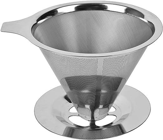 Yiyu Reutilizable Filtro de Café de Goteo de Acero Inoxidable ...