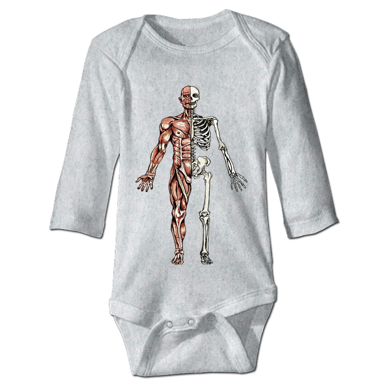 Human Anatomy Baby Girl Clothes Long Sleeve Onesies Romper Home Outfit