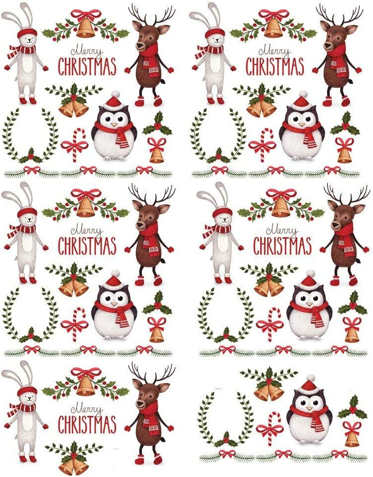 Christmas Tinsel Town Choose Either Ceramic 74155 Images Enamel Decal to Choose from 3 Different Size Sheet Glass Decal Waterslide Decal Ceramic Decal Enamel or Glass Fusing Decals