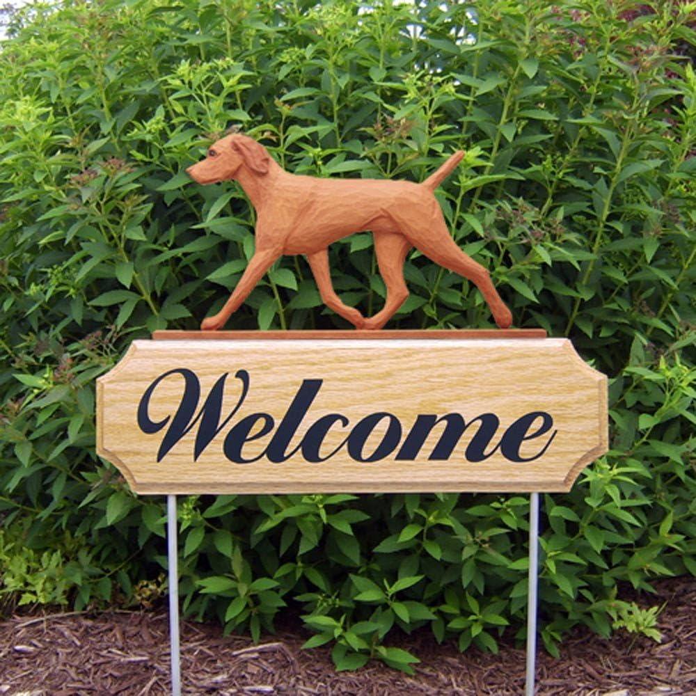 Vizsla Wood Welcome Outdoor Sign