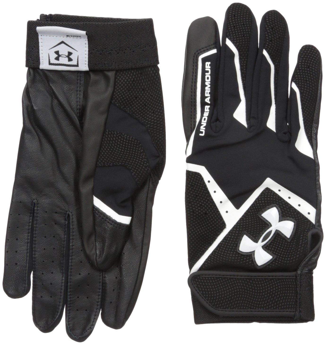 Black leather batting gloves - Amazon Com Under Armour Men S Clean Up Vi Batting Gloves Sports Outdoors