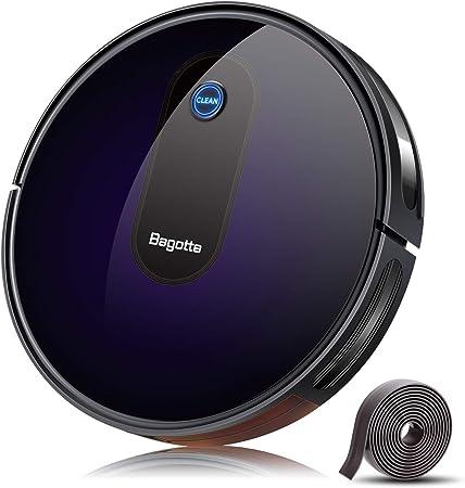 Aspiradora robótica Bagotte actualizada 2000Pa con succión fuerte, impulso automático de alfom...