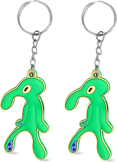 Tiny Squid Key Ring Squid Keychain CHOOSE YOUR COLOR Made to Order Small Cephalopod Keychain