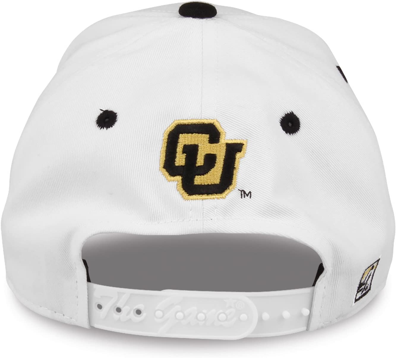 White, Colorado Buffaloes Adult Game Bar Adjustable Hat