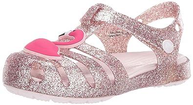 c5bd40e91a Crocs Girls' Isabella Charm Sandal Ballet Flat, Blush, 4 M US Toddler