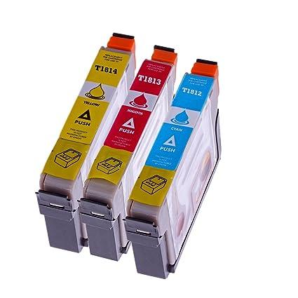 Multi Pack - 3 x Cartuchos de impresora para Epson T 1812 T 1813 T ...