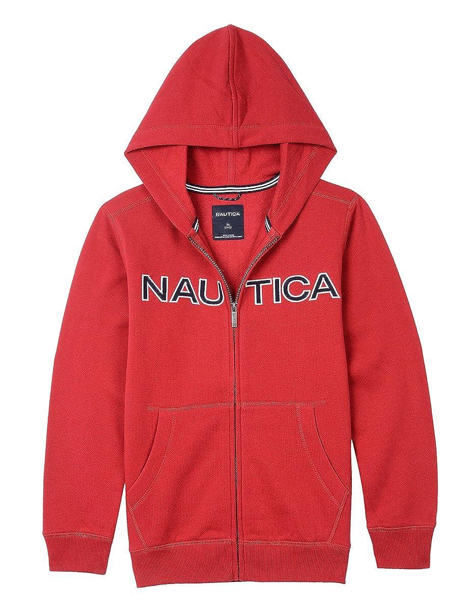a070c952d Amazon.com: Nautica Boy's Toddler Full Zip Classic Logo Fleece Hoodie:  Clothing