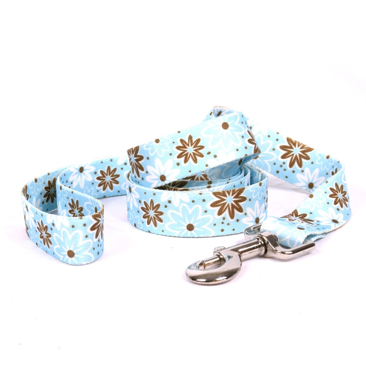 Yellow Dog Design Daisy Chain Blue Dog Leash 3/4'' Wide And 5' (60'') Long, Small/Medium
