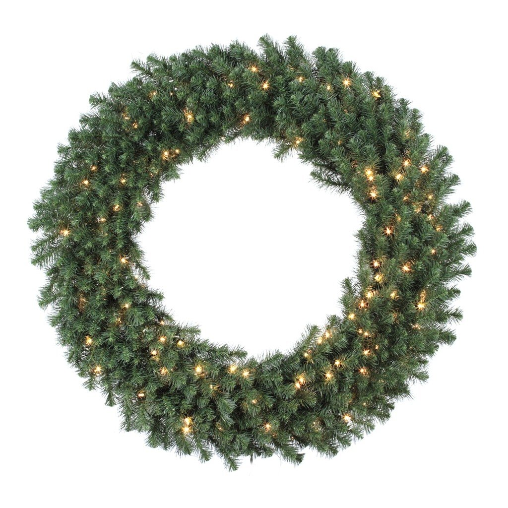 Vickerman Douglas Wreath with Dura-Lit 150 Clear Light and 480 Tips, 48-Inch
