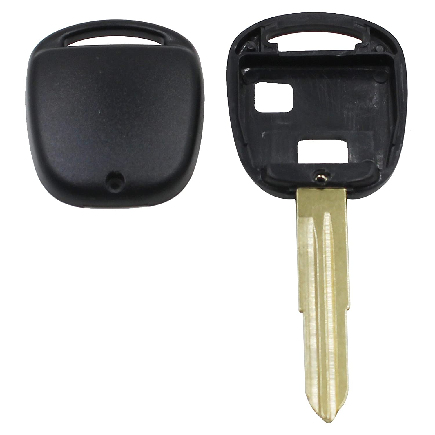 Heart Horse 2 Button Replacement Remote Key Shell Fob Compatible with Toyota Yaris Avalon Camry RAV4