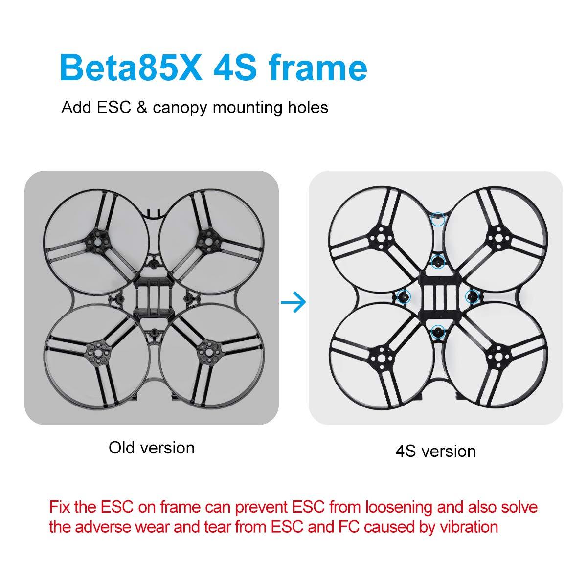 BETAFPV Beta85X 4S Cine Whoop Frame Kit Black Frame Stiffener Brace of Carbon Fiber for 1105 Brushless Motor Beta85X Cine Whoop