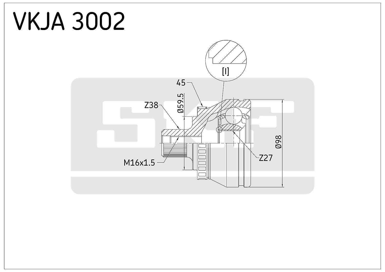 SKF VKJA 3002 Gelenksatz Antriebswelle