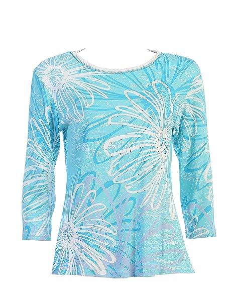 Amazon.com: JESS & Jane algodón Tee Camisa –