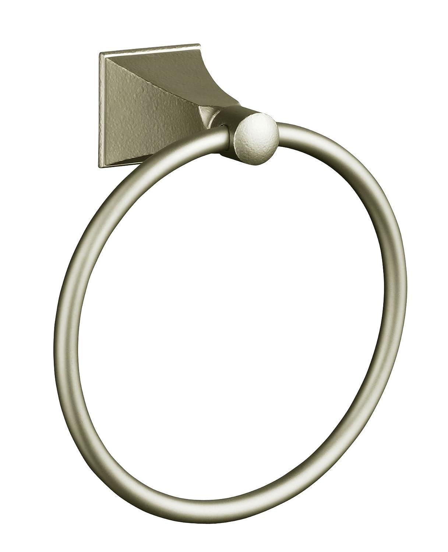 (Red) KOHLER K-487-RN Memoirs Towel Ring with Stately Design, Vibrant Hammered Nickel B000NN93MK レッド レッド