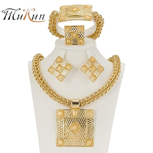 178862db08d89 Amazon.com: MUKUN Gold Plated African Jewelry for Women, Fashion ...