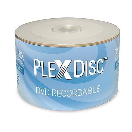 PlexDisc 16x 4.7GB Color Blanco Inyección de Tinta Hub ...