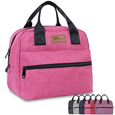 HOMESPON Insulated Lunch Bag Lunch Box Cooler Tote Box Cooler Bag Lunch Container for Women/Men/Work/Picnic, Large pink: Kitchen & Dining