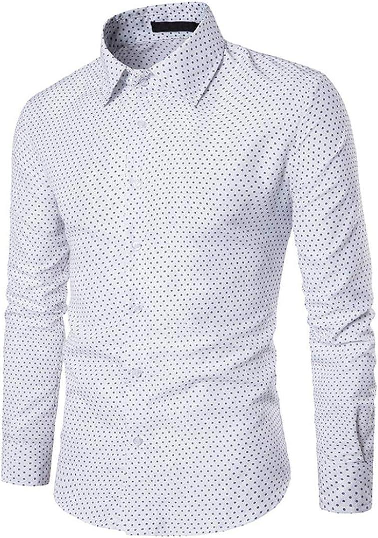 Camisa para Hombre AIMEE7 Camisas Hombre Manga Larga Casual, Camisas Hombre Lunares: Amazon.es: Ropa y accesorios