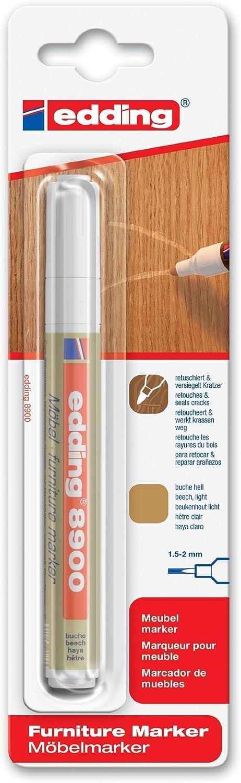 edding e-8900-1-4617 - Marcador para retocar muebles color Haya claro, Retoca y repara arañazos y desperfectos