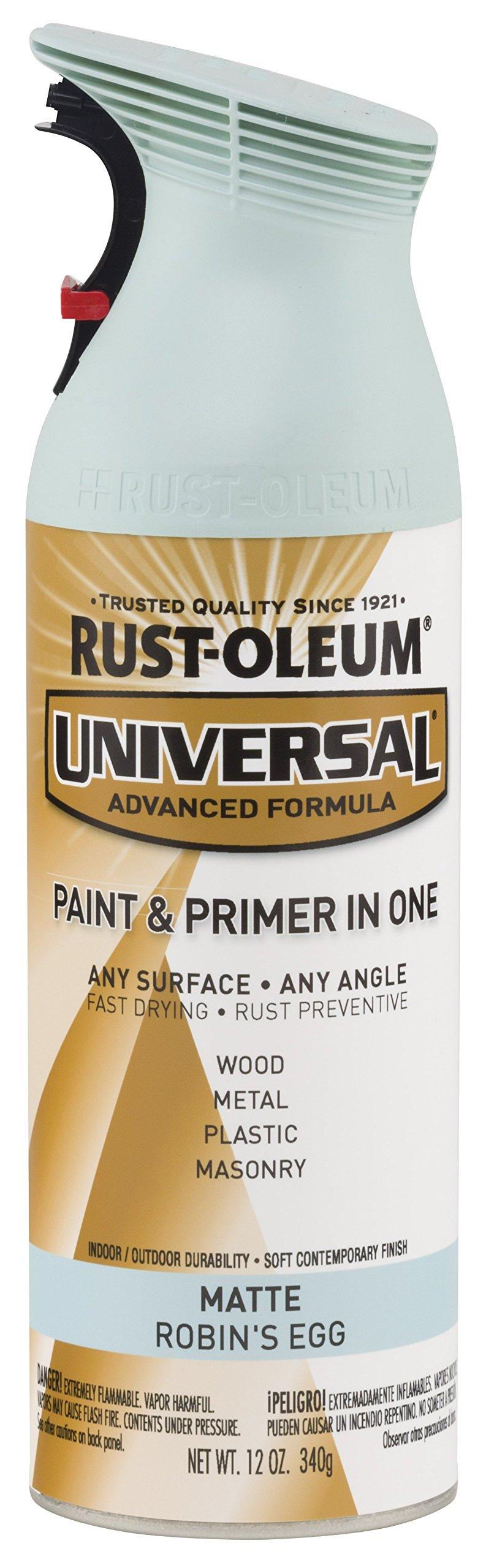 Rust-Oleum 282812 Universal All Surface Spray Paint, 12 oz, Matte Robin's Egg