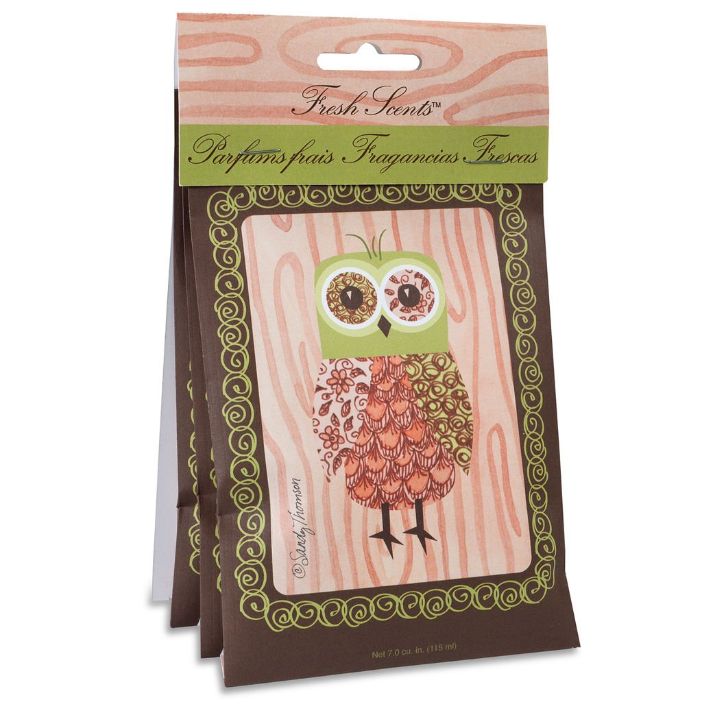 Fresh Scents Scented Sachet Pink Owl