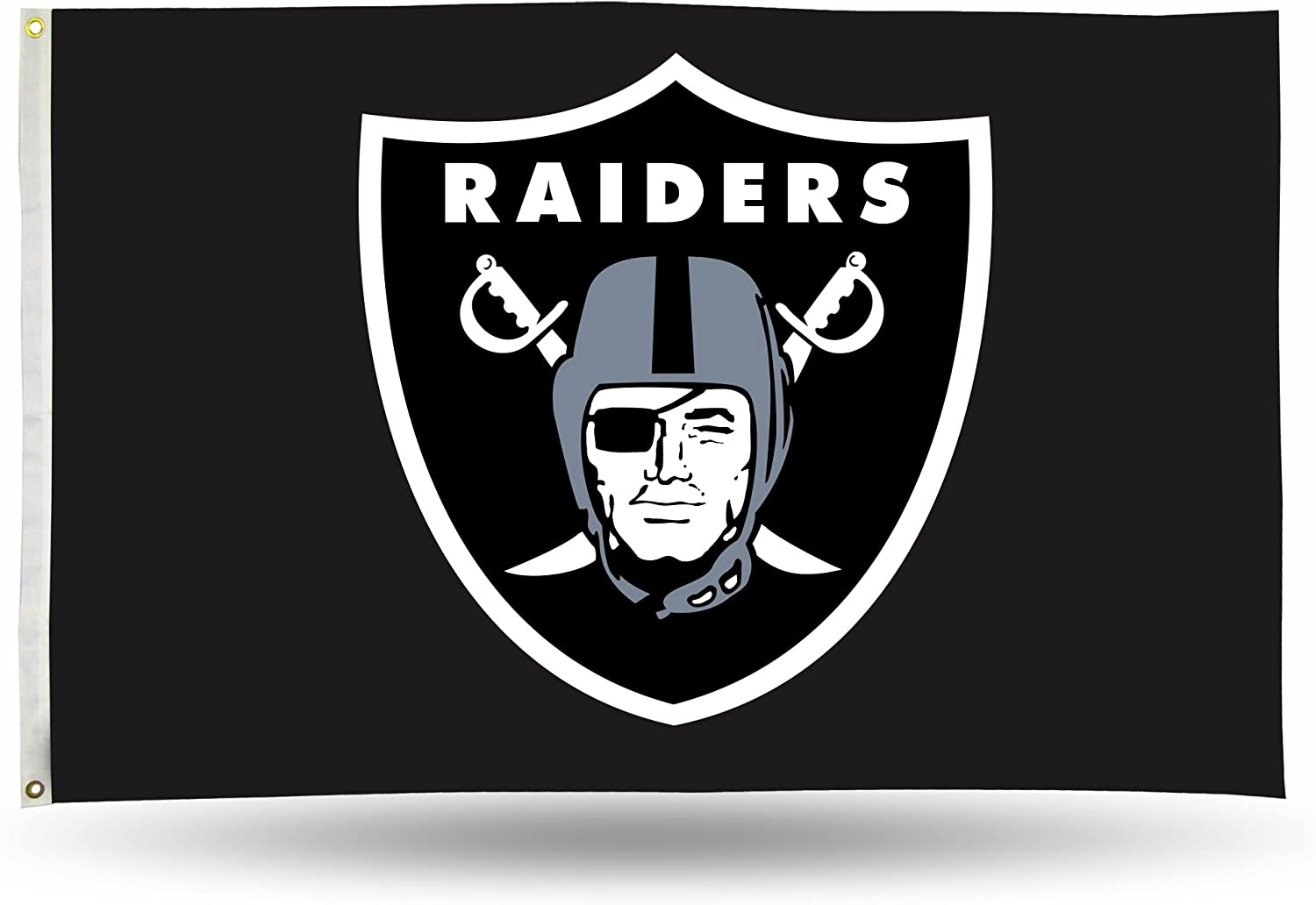 NFL Oakland Raiders 3-Foot by 5-Foot Single Sided Banner Flag with Grommets