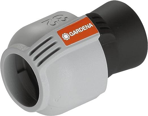 Gardena Conector 32 mm – Hembra 26/34 para arquetas pre-montadas de 1 y 3 vías, Gris: Amazon.es: Jardín